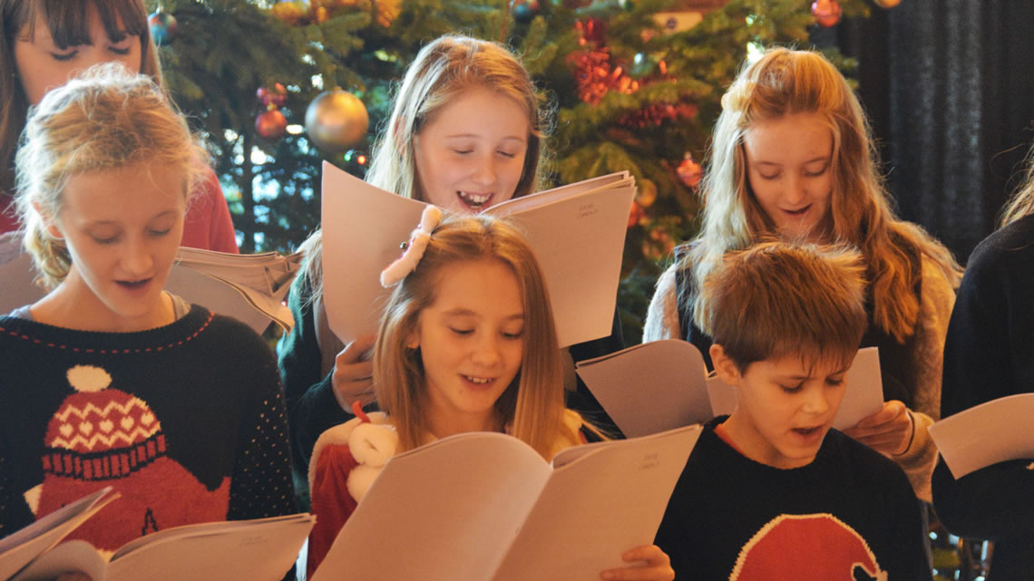 Christmas fair carol singers