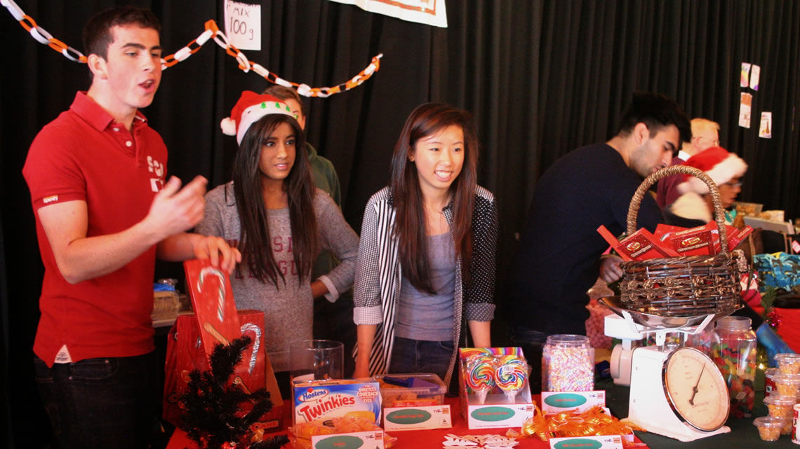 Young Enterprise Christmas fair stall