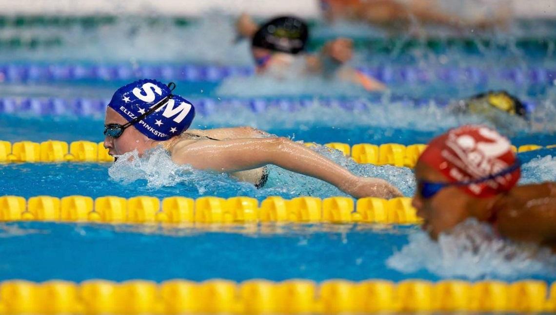 Swimmer Eliza Pinkstone in action