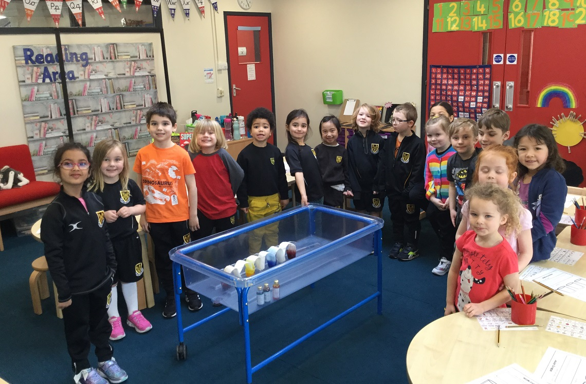Reception class during STEAM Day