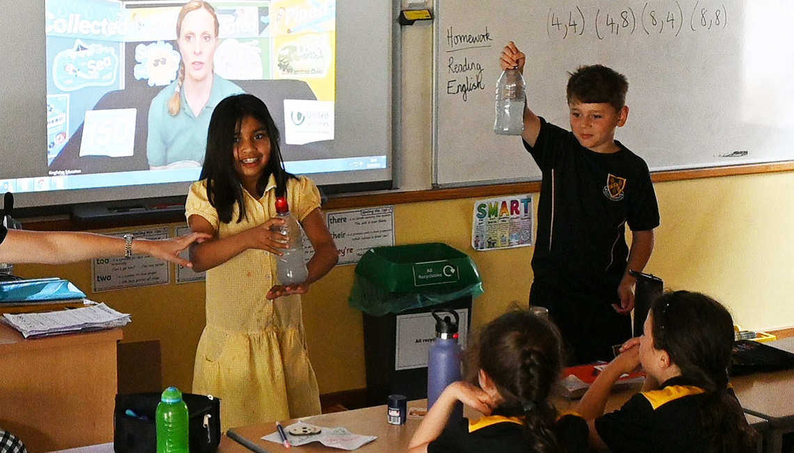 Bottle experiment during a United Utilities workshop